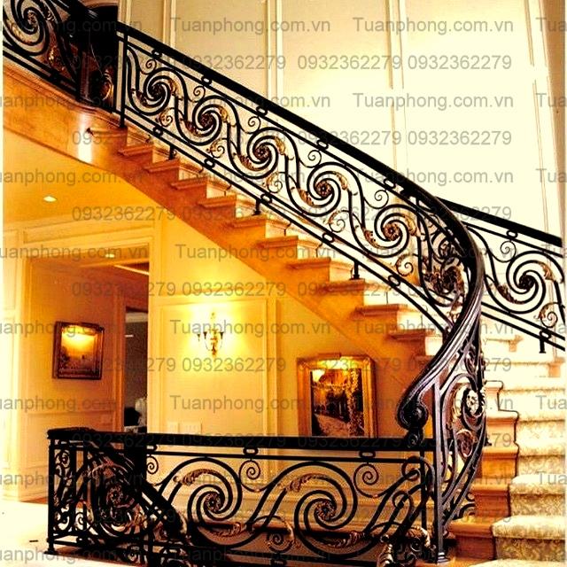 1 - 100+ mẫu lan can-cầu thang sắt nghệ thuật cổ điển đẹp xuất sắc