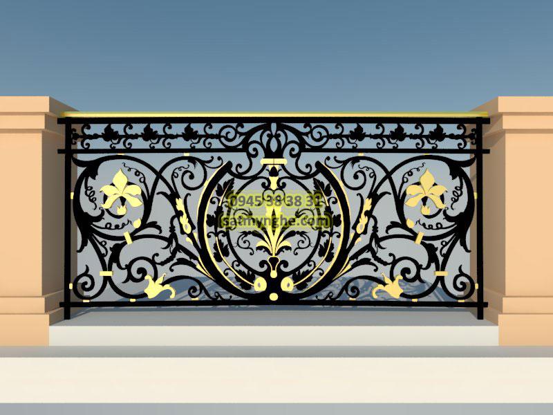 ban cong sat my nghe 009 - top 500+ mẫu ban công (balcons iron art) sắt mỹ nghệ đẹp nhất