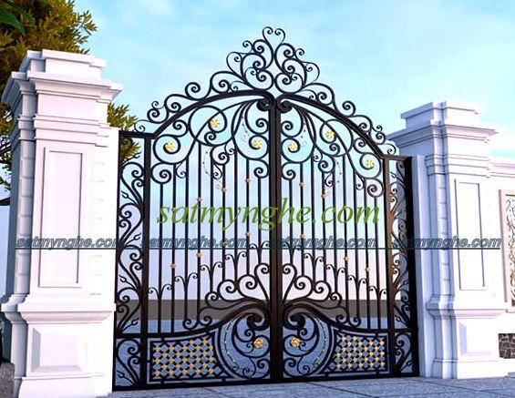 cs 59 - Vì sao nên chọn cổng sắt mỹ thuật trang trí cho ngôi nhà bạn?