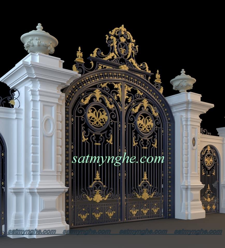 cs 60 - Vì sao nên chọn cổng sắt mỹ thuật trang trí cho ngôi nhà bạn?